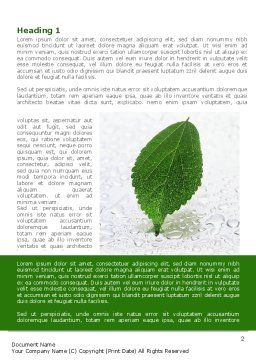 Hydroponics Word Template, First Inner Page, 08683, Nature & Environment — PoweredTemplate.com
