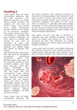 Circulatory Word Template, First Inner Page, 08689, Medical — PoweredTemplate.com
