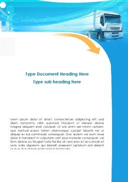Trucker Word Template, Cover Page, 08690, Cars/Transportation — PoweredTemplate.com