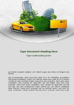 Metropolitan Taxi Word Template, Cover Page, 08691, Cars/Transportation — PoweredTemplate.com