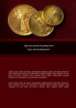 Golden Dollars Word Template Cover Page