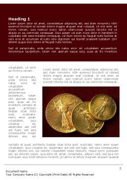 Golden Dollars Word Template, First Inner Page, 08693, Flags/International — PoweredTemplate.com
