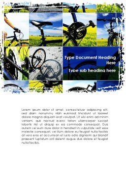 Summer Cyclist Tour Word Template, Cover Page, 08694, Sports — PoweredTemplate.com
