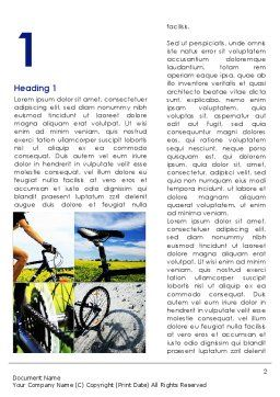 Summer Cyclist Tour Word Template, First Inner Page, 08694, Sports — PoweredTemplate.com