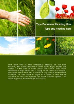 Wildflowers Word Template, Cover Page, 08697, Nature & Environment — PoweredTemplate.com