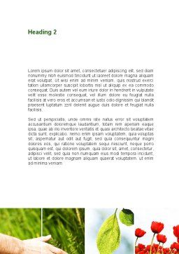 Wildflowers Word Template, Second Inner Page, 08697, Nature & Environment — PoweredTemplate.com