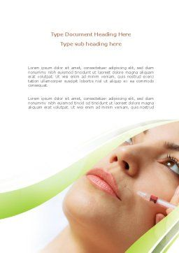 Botox Therapy Word Template Cover Page