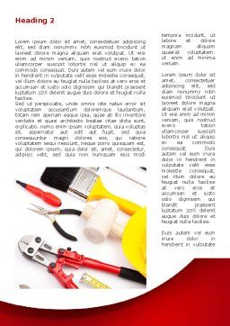 Instruments For Construction Word Template, First Inner Page, 08702, Utilities/Industrial — PoweredTemplate.com