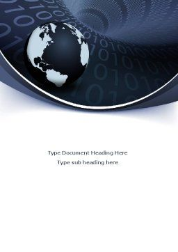Global Data Links Word Template, Cover Page, 08703, Global — PoweredTemplate.com