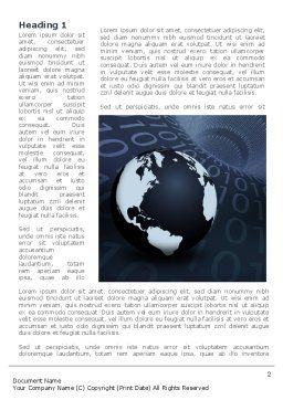 Global Data Links Word Template, First Inner Page, 08703, Global — PoweredTemplate.com
