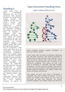 Plastic DNA Model Word Template, First Inner Page, 08704, Medical — PoweredTemplate.com