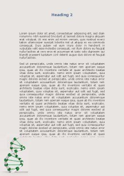Plastic DNA Model Word Template, Second Inner Page, 08704, Medical — PoweredTemplate.com
