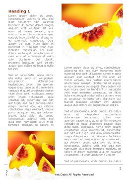 Peach Slices Word Template, First Inner Page, 08705, Food & Beverage — PoweredTemplate.com