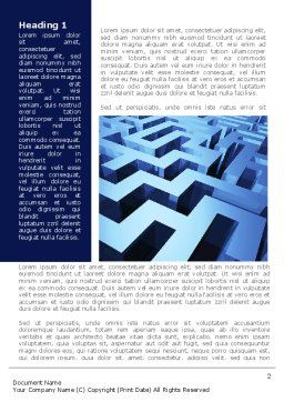Blue Labyrinth Word Template, First Inner Page, 08706, Consulting — PoweredTemplate.com
