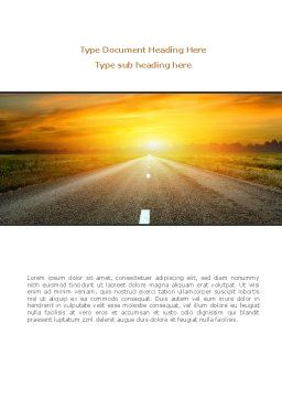 Sunset Way Word Template, Cover Page, 08712, Construction — PoweredTemplate.com