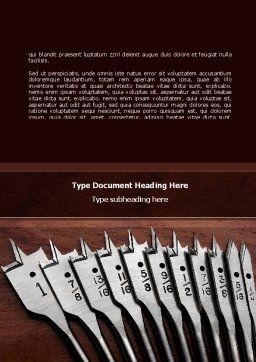 Drills Word Template, Cover Page, 08713, Utilities/Industrial — PoweredTemplate.com