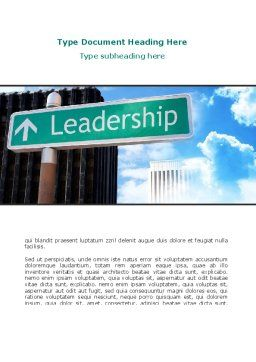 Leadership Training Word Template, Cover Page, 08714, Consulting — PoweredTemplate.com