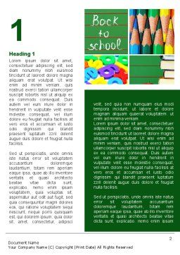 School Stationery For Learning Process Word Template First Inner Page