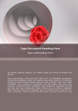 Blood Diseases Word Template, Cover Page, 08717, Medical — PoweredTemplate.com