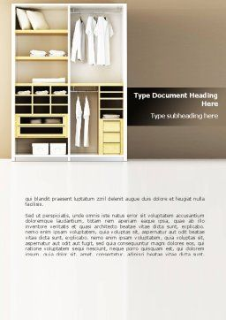 Modern Furniture Word Template, Cover Page, 08720, Careers/Industry — PoweredTemplate.com