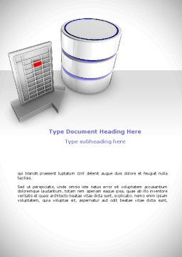 Database Development Word Template, Cover Page, 08722, Technology, Science & Computers — PoweredTemplate.com