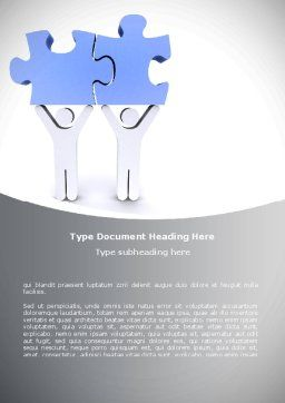Psychological Compatibility Word Template, Cover Page, 08724, Consulting — PoweredTemplate.com