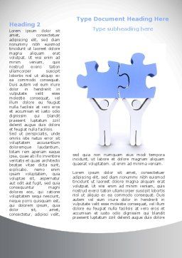 Psychological Compatibility Word Template, First Inner Page, 08724, Consulting — PoweredTemplate.com