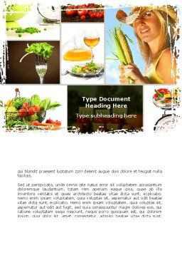 Healthy Food Basket Word Template, Cover Page, 08727, Food & Beverage — PoweredTemplate.com
