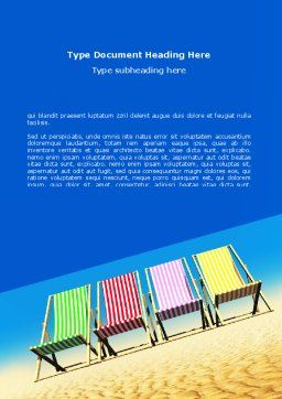 Lounge Beach Word Template, Cover Page, 08728, Careers/Industry — PoweredTemplate.com