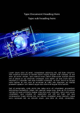 High Tech Planet Word Template, Cover Page, 08730, Technology, Science & Computers — PoweredTemplate.com