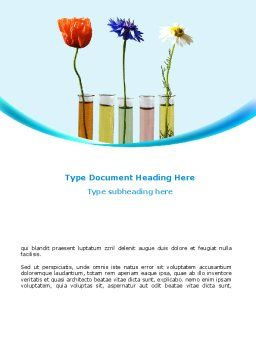 Modern Hydroponics Word Template, Cover Page, 08732, Technology, Science & Computers — PoweredTemplate.com