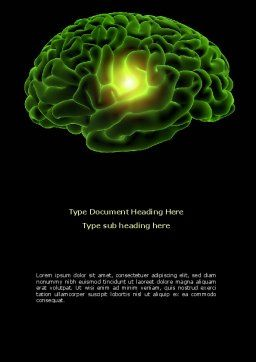 Human Brain Word Template, Cover Page, 08734, Medical — PoweredTemplate.com