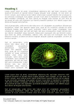 Human Brain Word Template, First Inner Page, 08734, Medical — PoweredTemplate.com