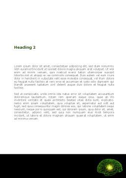 Human Brain Word Template, Second Inner Page, 08734, Medical — PoweredTemplate.com