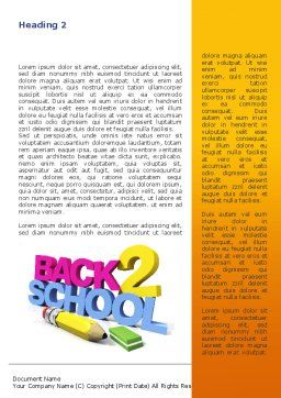 Back 2 School Word Template, First Inner Page, 08735, Education & Training — PoweredTemplate.com