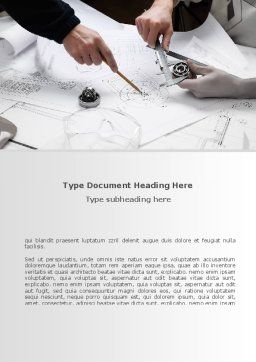 Mechanical Engineering Word Template, Cover Page, 08738, Business — PoweredTemplate.com