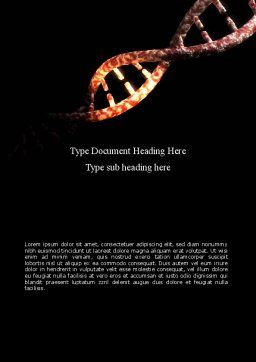 DNA Double Spiral Word Template, Cover Page, 08741, Technology, Science & Computers — PoweredTemplate.com