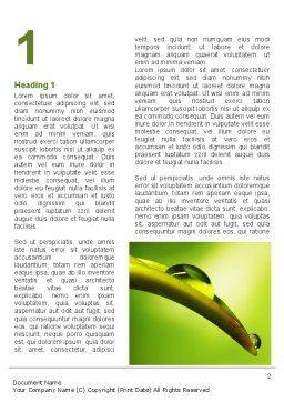 Flower Dew Word Template, First Inner Page, 08745, Nature & Environment — PoweredTemplate.com