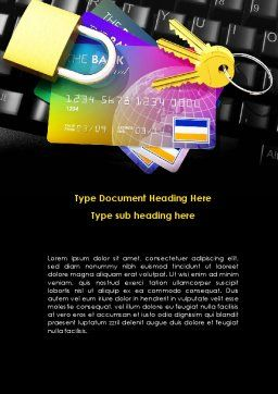 Online Payment Security Word Template, Cover Page, 08750, Financial/Accounting — PoweredTemplate.com