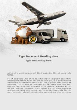 Shipping Service Word Template, Cover Page, 08751, Cars/Transportation — PoweredTemplate.com
