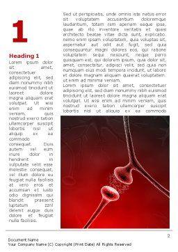 Nervous Fibers Word Template, First Inner Page, 08753, Medical — PoweredTemplate.com