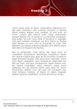Nervous Fibers Word Template, Second Inner Page, 08753, Medical — PoweredTemplate.com