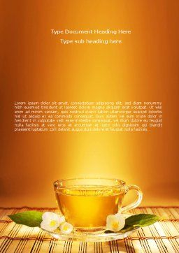 Jasmine Tea Word Template, Cover Page, 08754, Food & Beverage — PoweredTemplate.com