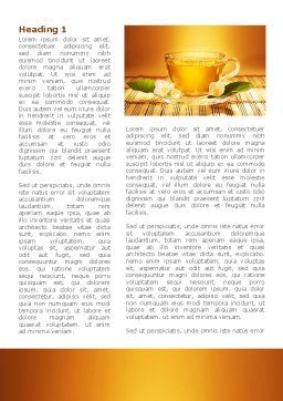 Jasmine Tea Word Template, First Inner Page, 08754, Food & Beverage — PoweredTemplate.com