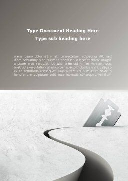 Ockham's Razor Word Template, Cover Page, 08756, Business Concepts — PoweredTemplate.com