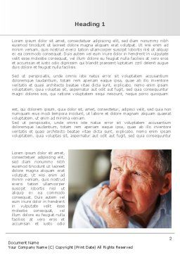 Old Man Word Template, First Inner Page, 08757, People — PoweredTemplate.com