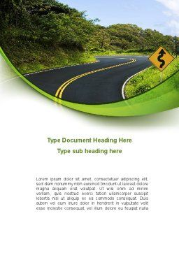 Long And Winding Road Word Template, Cover Page, 08761, Construction — PoweredTemplate.com