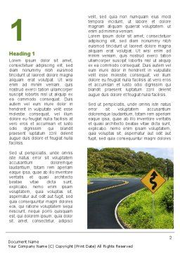 Long And Winding Road Word Template, First Inner Page, 08761, Construction — PoweredTemplate.com