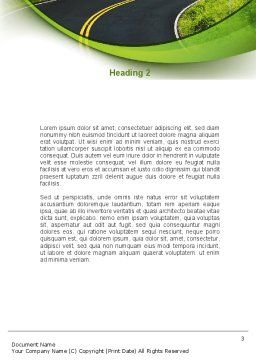 Long And Winding Road Word Template, Second Inner Page, 08761, Construction — PoweredTemplate.com