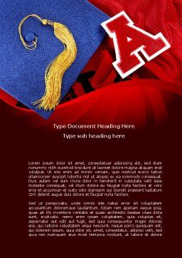 Mortarboard Word Template, Cover Page, 08771, Education & Training — PoweredTemplate.com